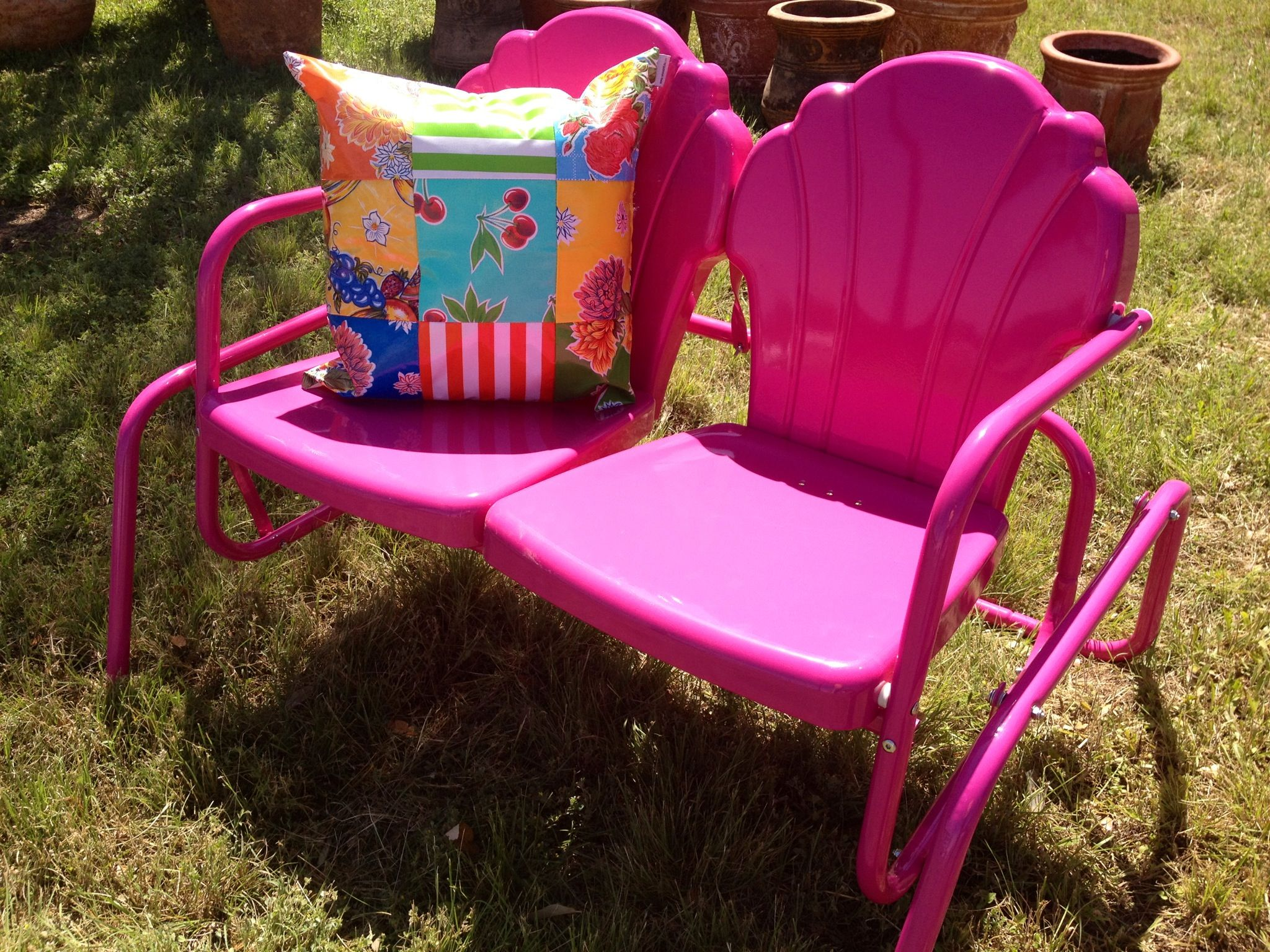 Hot Pink Retro Lawn Furniture At Nest Vintage Johnson