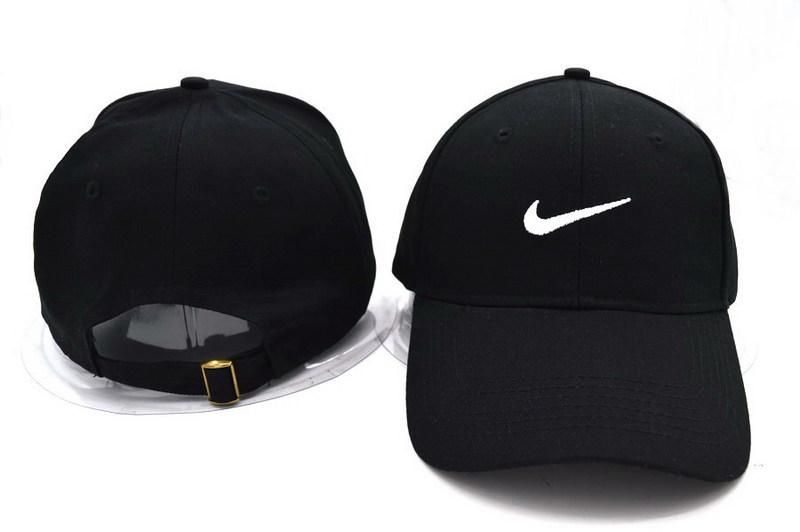 ea4be58be371a Mens Nike Stock Basic Stock Logo Embroidery Heritage Dri-Fit Sports Retro  Golf Hat Adjustable Strapback Cap - Black