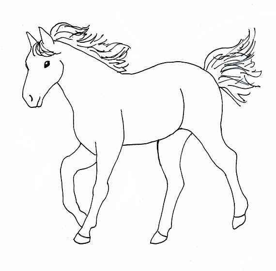 free coloring pages of horses printable kids colouring pages - Horseland Coloring Pages Sunburst