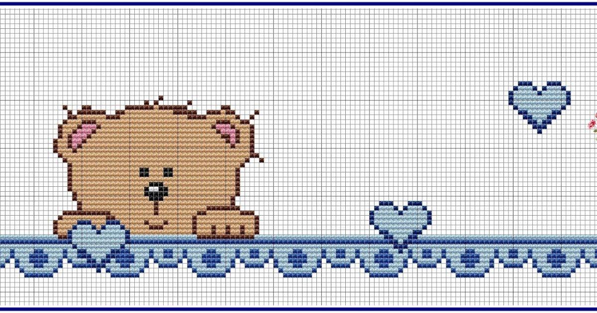 Ursinhos Fofinhos Ponto Cruz Elefante Urso Ponto Cruz Modelo