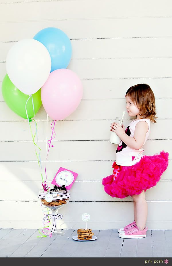 Pink Posh Photographers | Children Photography | Milk and Cookies | Pink tutu | 2 year old photos
