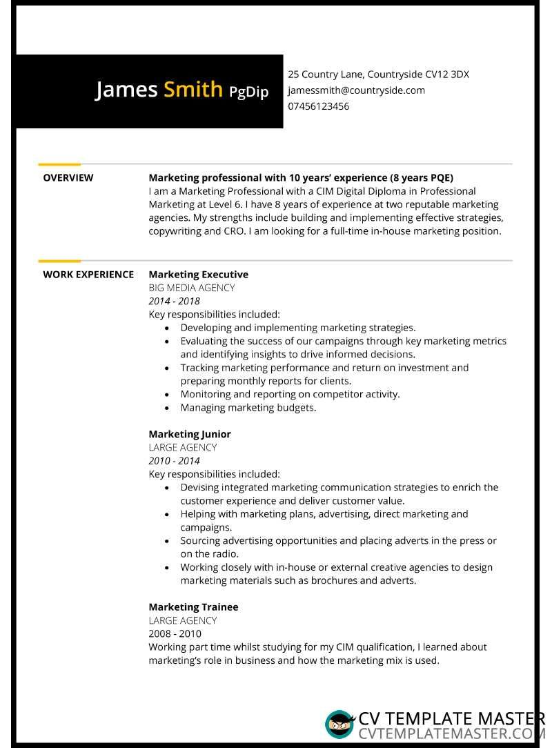 Resume With Borders