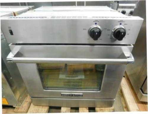 American Range 30 Inch Single Gas Wall Oven With Chef Door Stainless Steel
