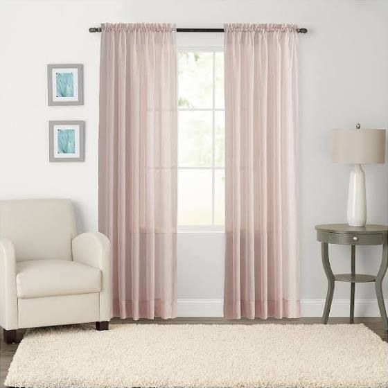 Charmant Pale Pink Curtains Kohls