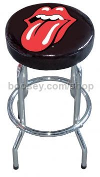 Bar Stool Rolling Stones Classic Exile Tongue Design
