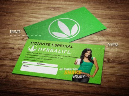 Cartões de visita - Herbalife 2