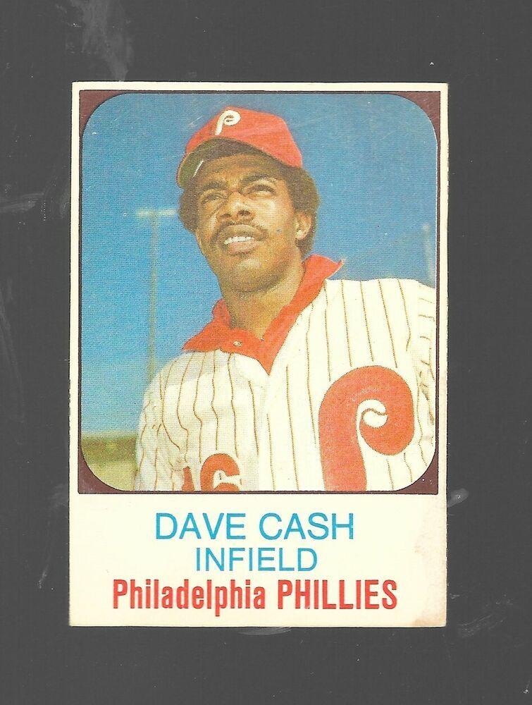 1975 hostess dave cash 93 philadelphia phillies baseball