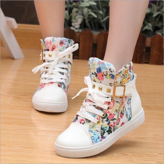 Leopard Flower Pattern Womens Casual Shoes Unique shoefor Womens