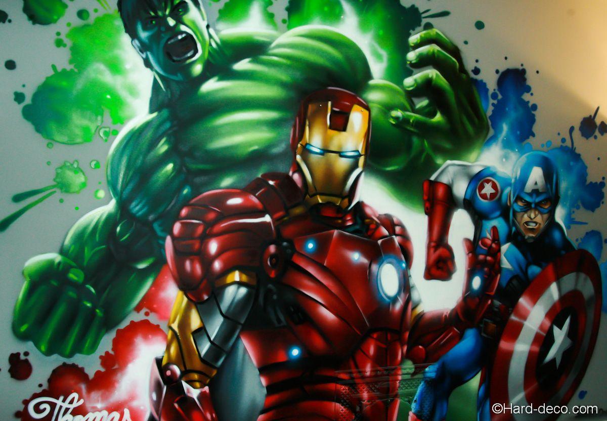Chambre Marvel Avengers  Hard Deco en 19  Marvel avengers