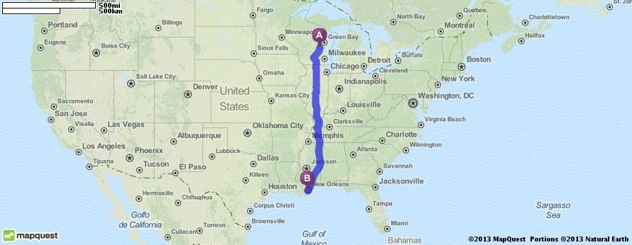 driving directions from oshkosh wisconsin to new orleans louisiana mapquest