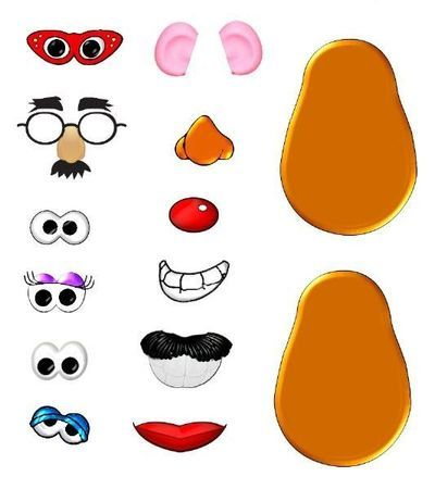 graphic relating to Mr Potato Head Printable Parts called Mr Potato Brain Sections Printables Clipart Figures 0-10