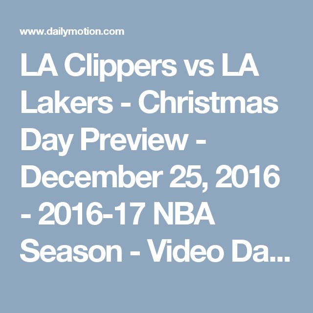 LA Clippers Vs LA Lakers