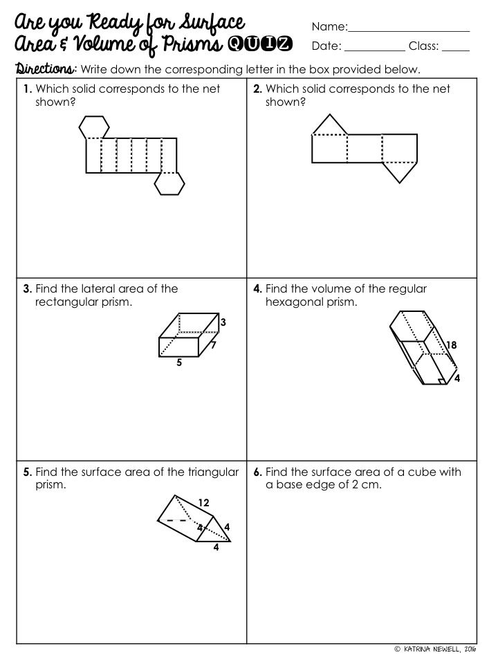 High School Special Education Math Teacher Blog For Ideas And Resources In The Secondary Math Classr Secondary Math Classroom Volume Of Prisms Sixth Grade Math Volume surface area worksheets