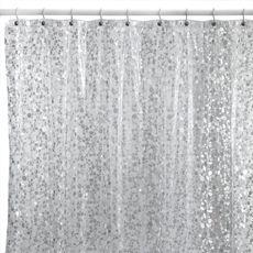 Pebbles Silver 72 X 72 Vinyl Shower Curtain Bed Bath Beyond