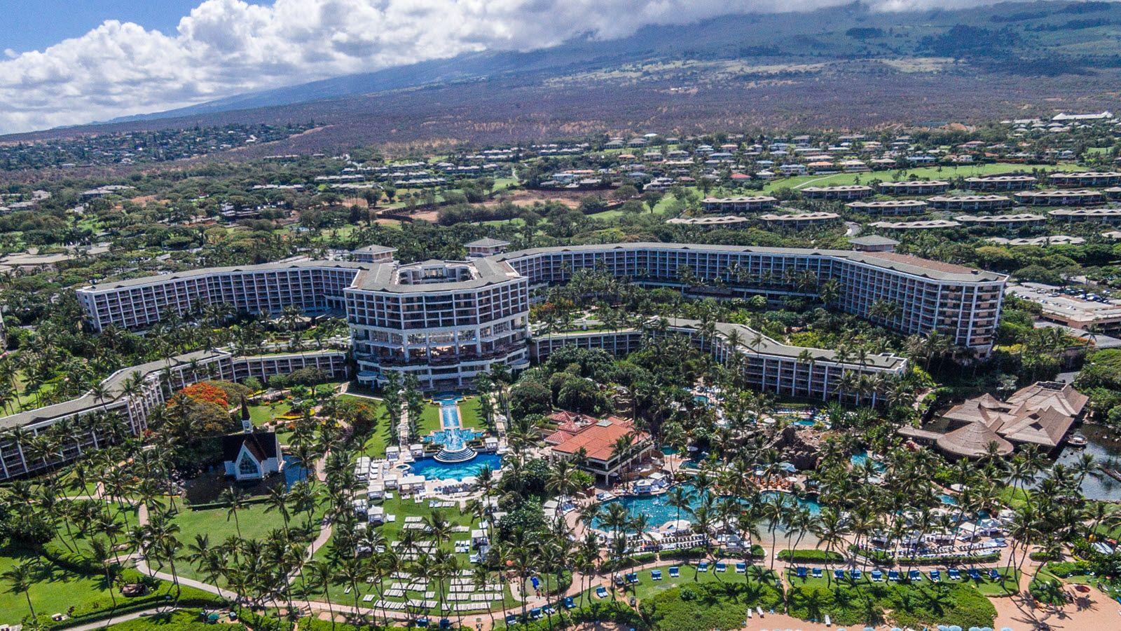 Aerial Photos Of Grand Wailea Via Grand Wailea Maui Hawaii Maui Hotels Maui Photos Wailea Maui