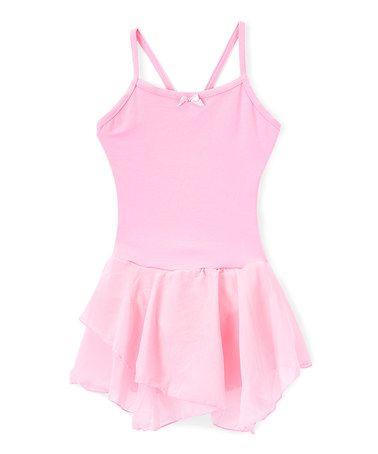 d007a8cff2f8 Look at this  zulilyfind! Pink Spaghetti Strap Tier-Skirt Leotard ...