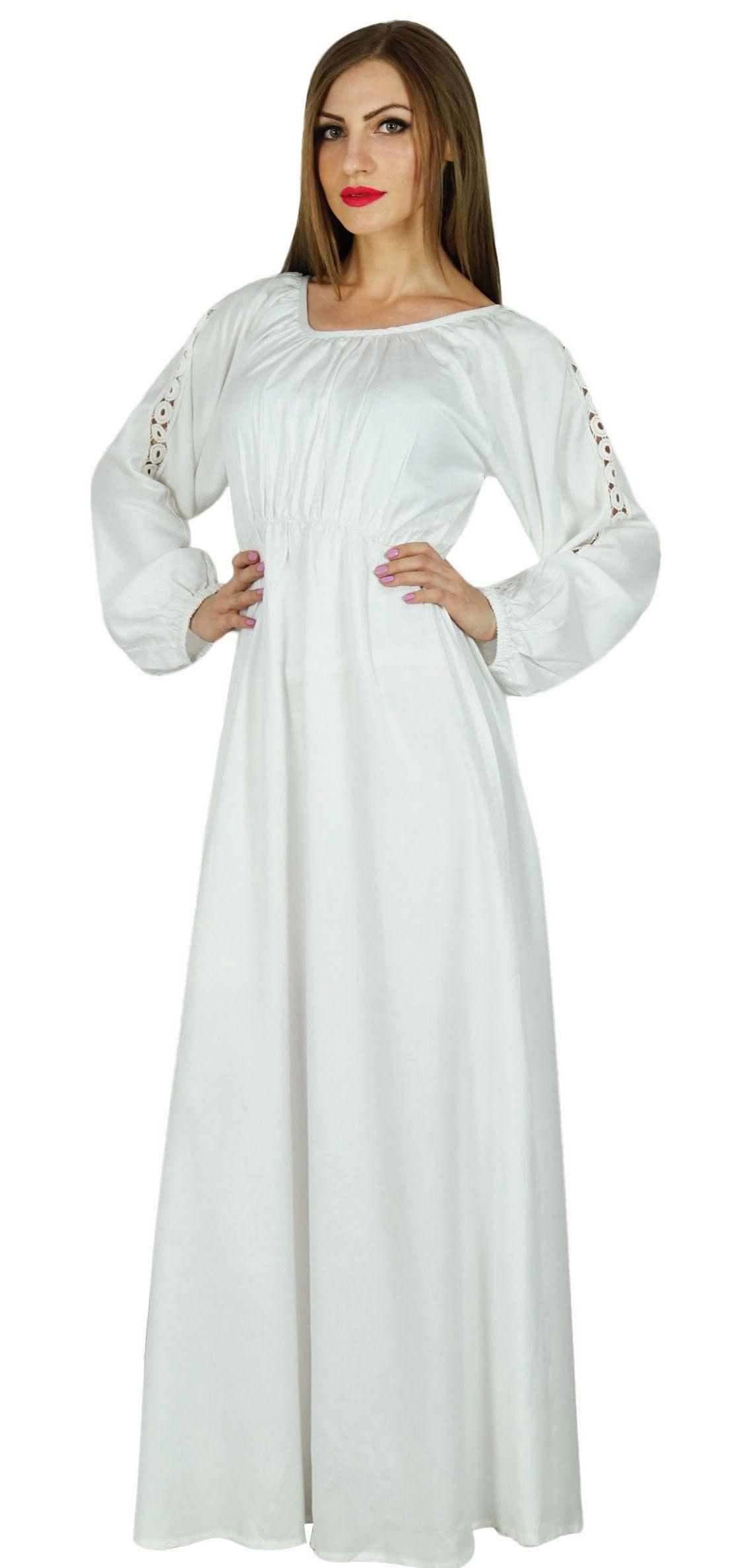 Bimba women boho gothic style long maxi dress lace long