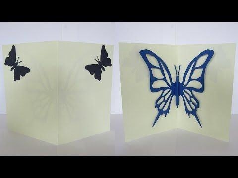 Butterfly greeting card - learn how to make greeting cards from butterfl...