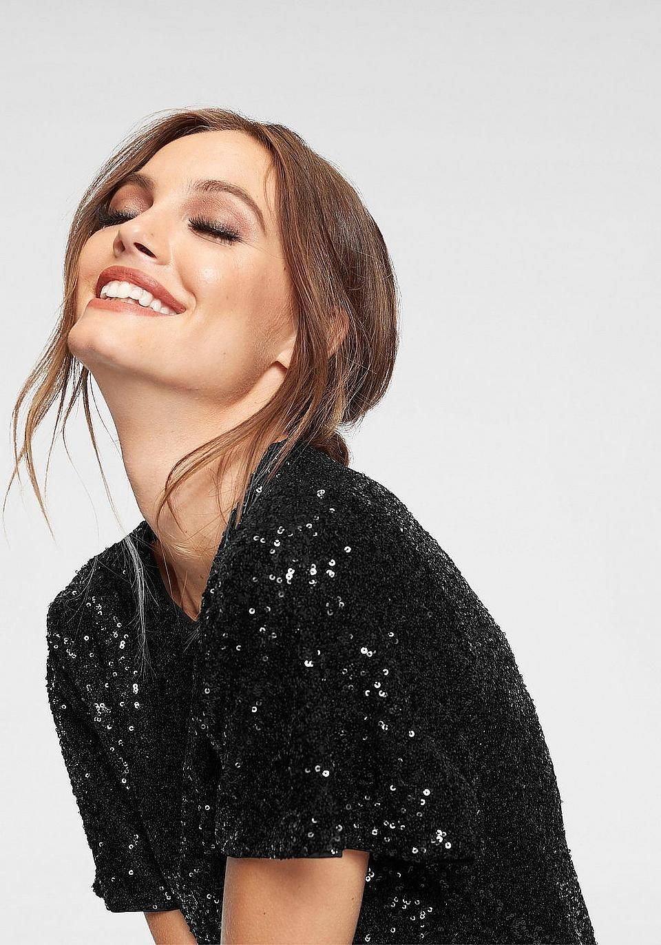 vero moda blusenshirt »sparkly« entdecke tolle ideen für