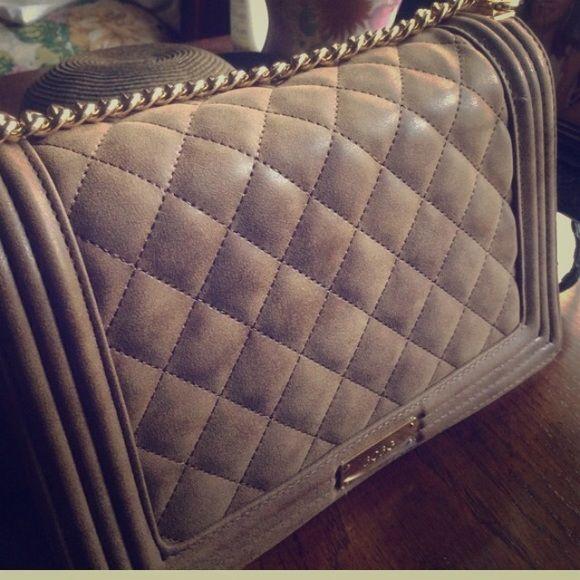 c9e4c3de0b Bcbg quilted gorgeous bag Color mocha- gold hardware!! BCBG Bags Crossbody  Bags