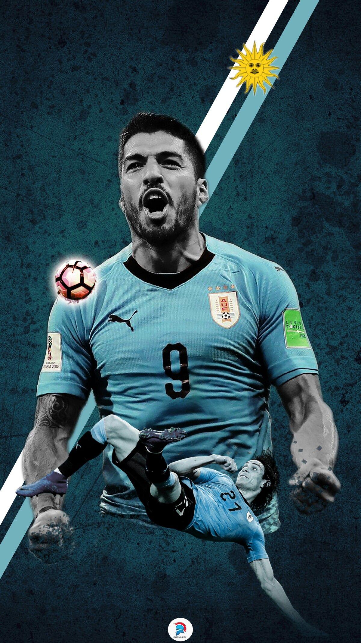 Luis Suarez Art Uruguay Wallpaper Edinson Cavani