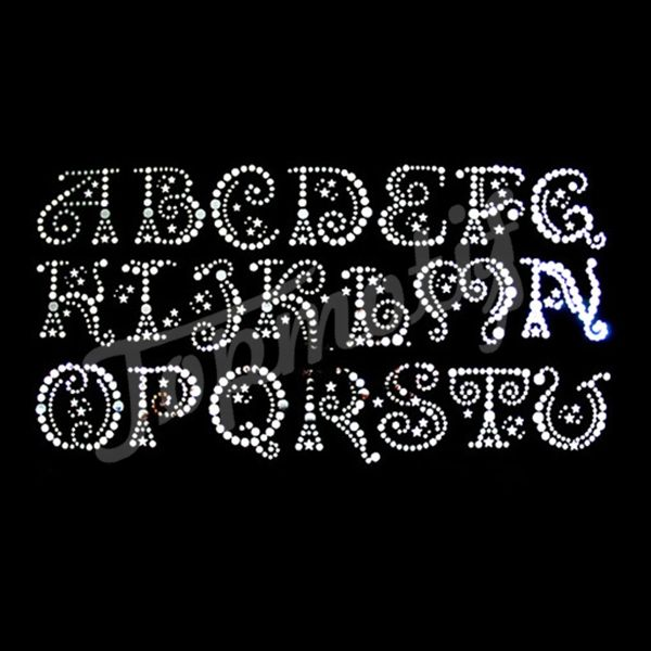 7f95d4c2d Rhinestone Stock Design Iron on Alphabet Motifs For Tshirts | number ...