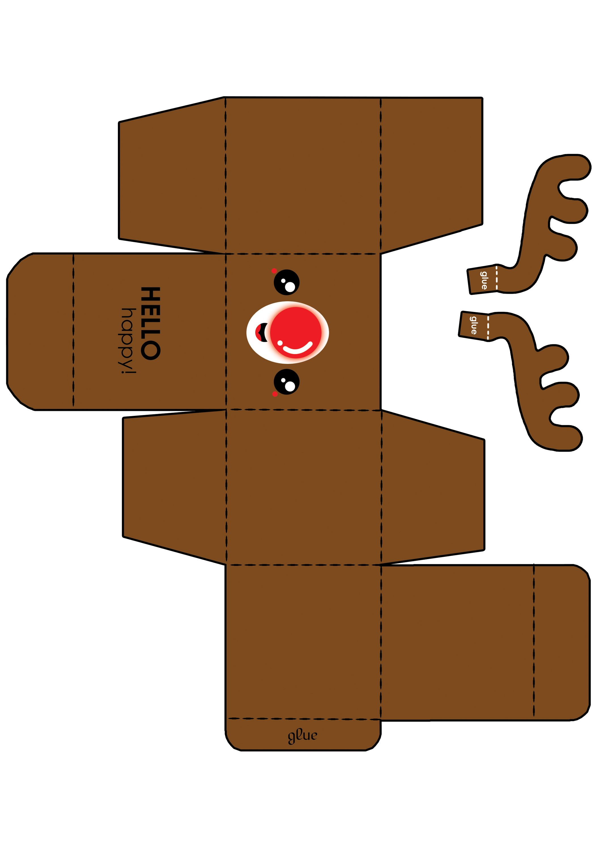 caja individual #reno para #cupcake | xmas ideas | Pinterest | Cajas ...