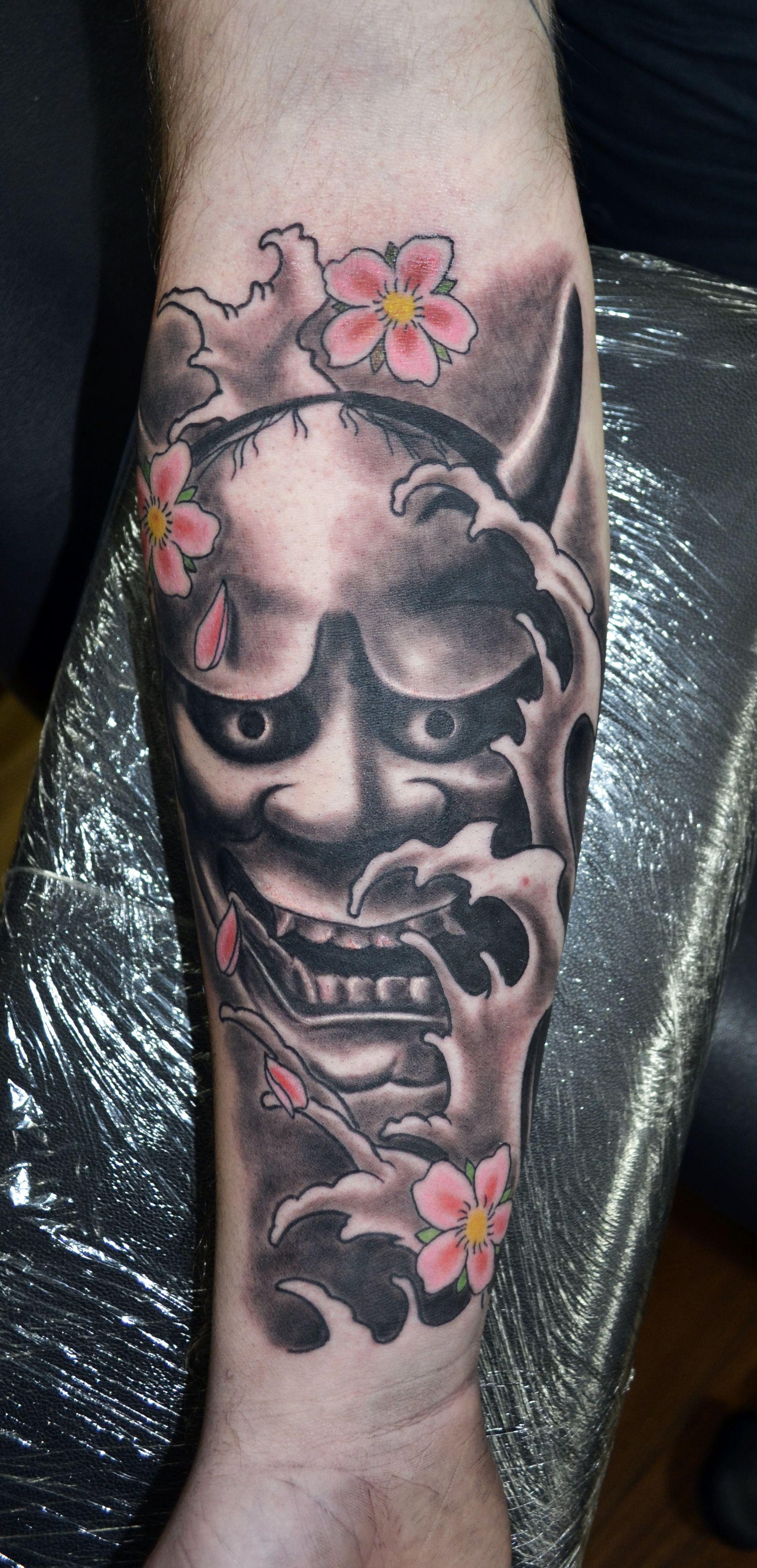 Hannya Mask Girl Tattoo: Japanese Hannya Mask Tattoo