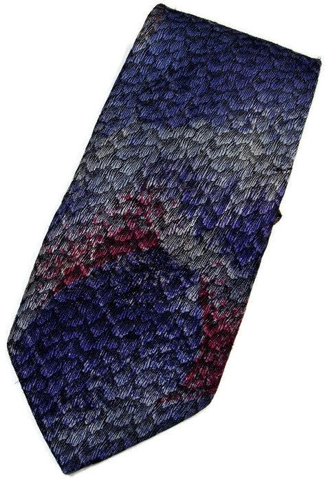 Oscar De La Renta Blue Purple Gray Necktie Tie Etsy listing at https://www.etsy.com/listing/225709847/oscar-de-la-renta-blue-purple-gray