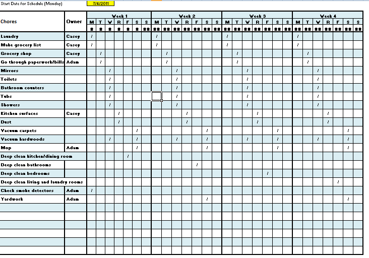 bar cleaning rota template