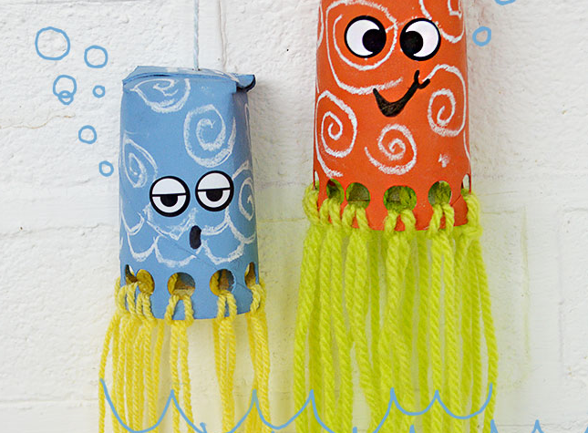 On bricole des pieuvres trucs et bricolages bricolage for Toilet paper roll crafts for adults