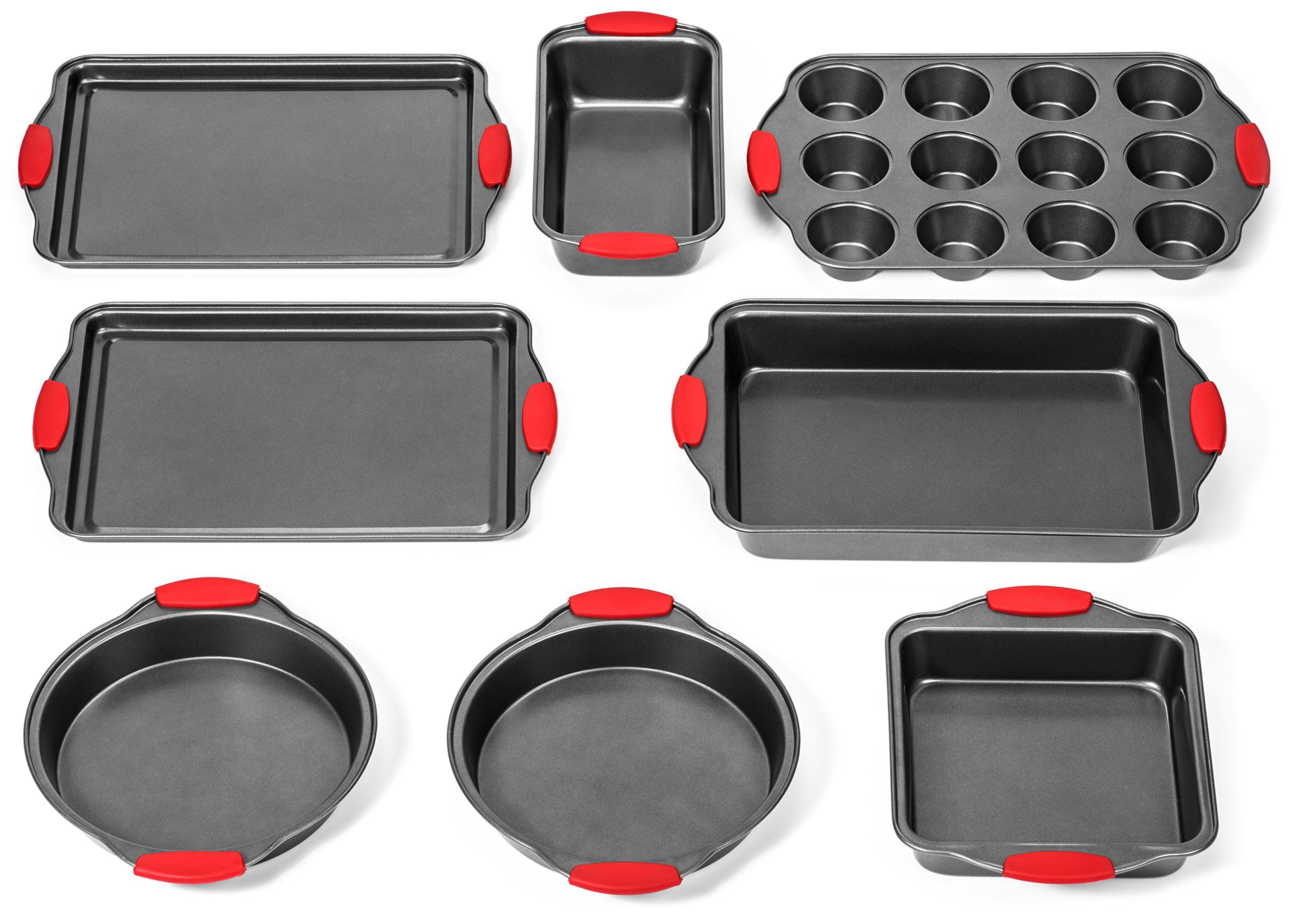 Elite Bakeware 8 Piece Ultra Nonstick Baking Pans Set Bakeware Set