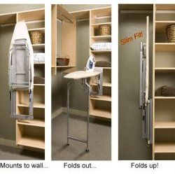 Fold Down Ironing Board Pressing Perfection Walk In Closet Size Iron Board Walk In Closet