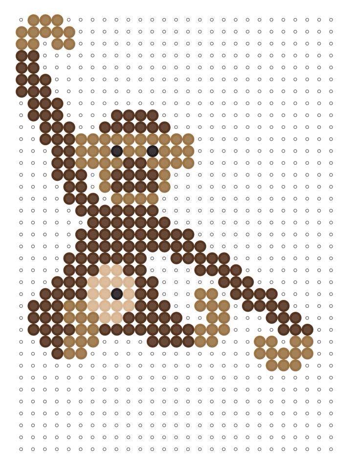 Kay Bojesen's klassiske abe som perleplade