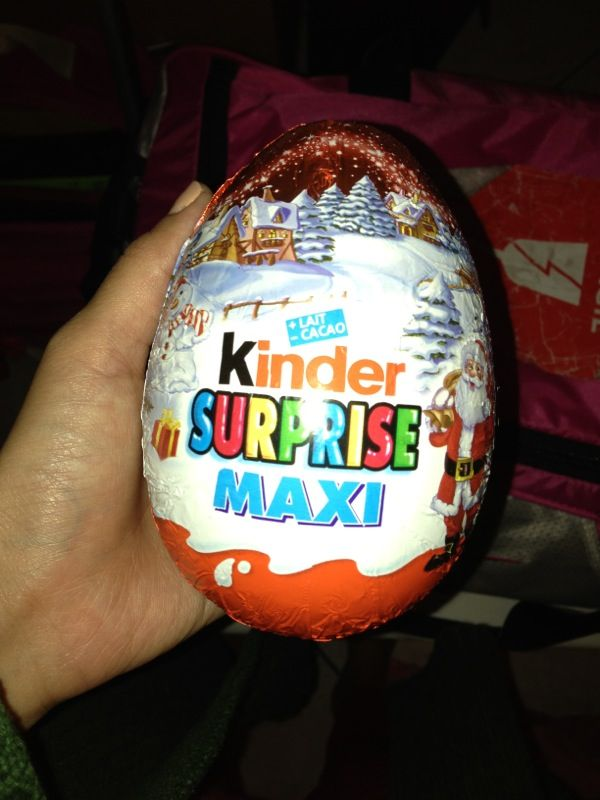 Bought This HUGE kinder chocolate at france. #loveit #kinder #chocolate