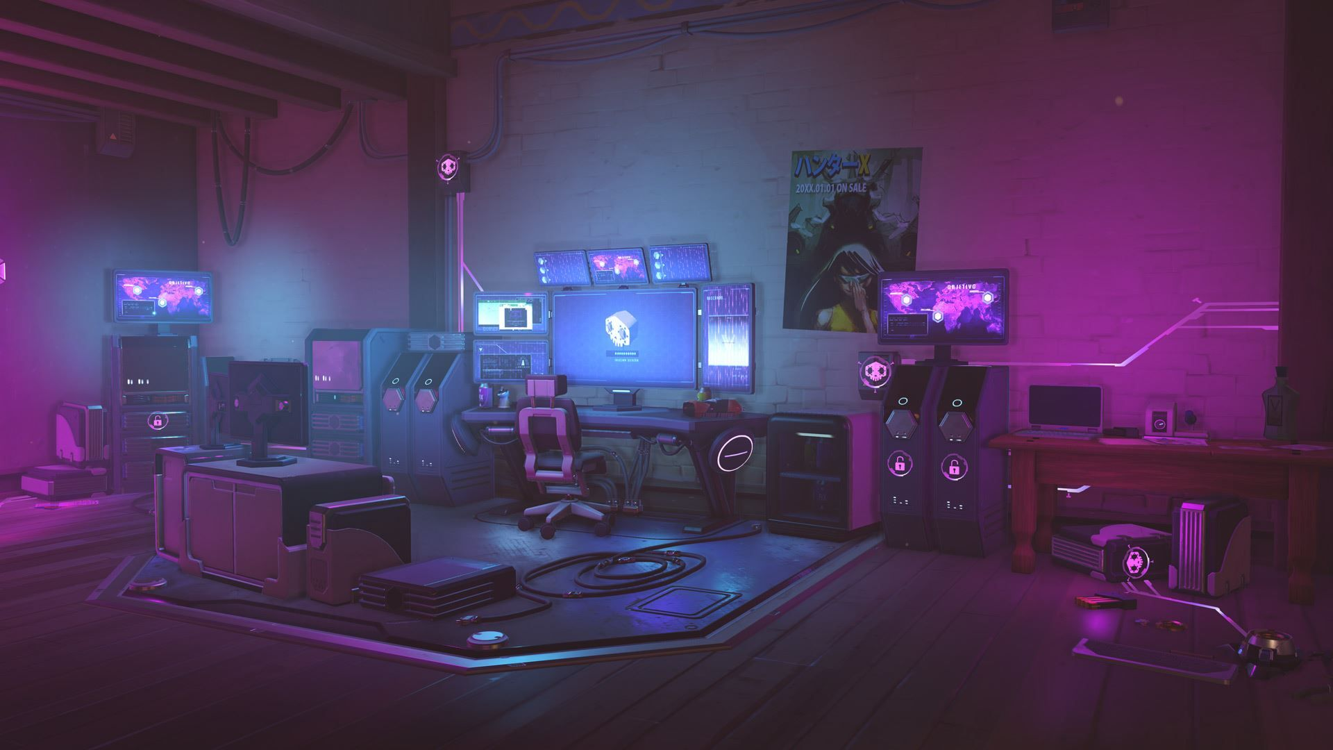 Image For Sombra Cyber Room In 2019 Wallpaper Pc