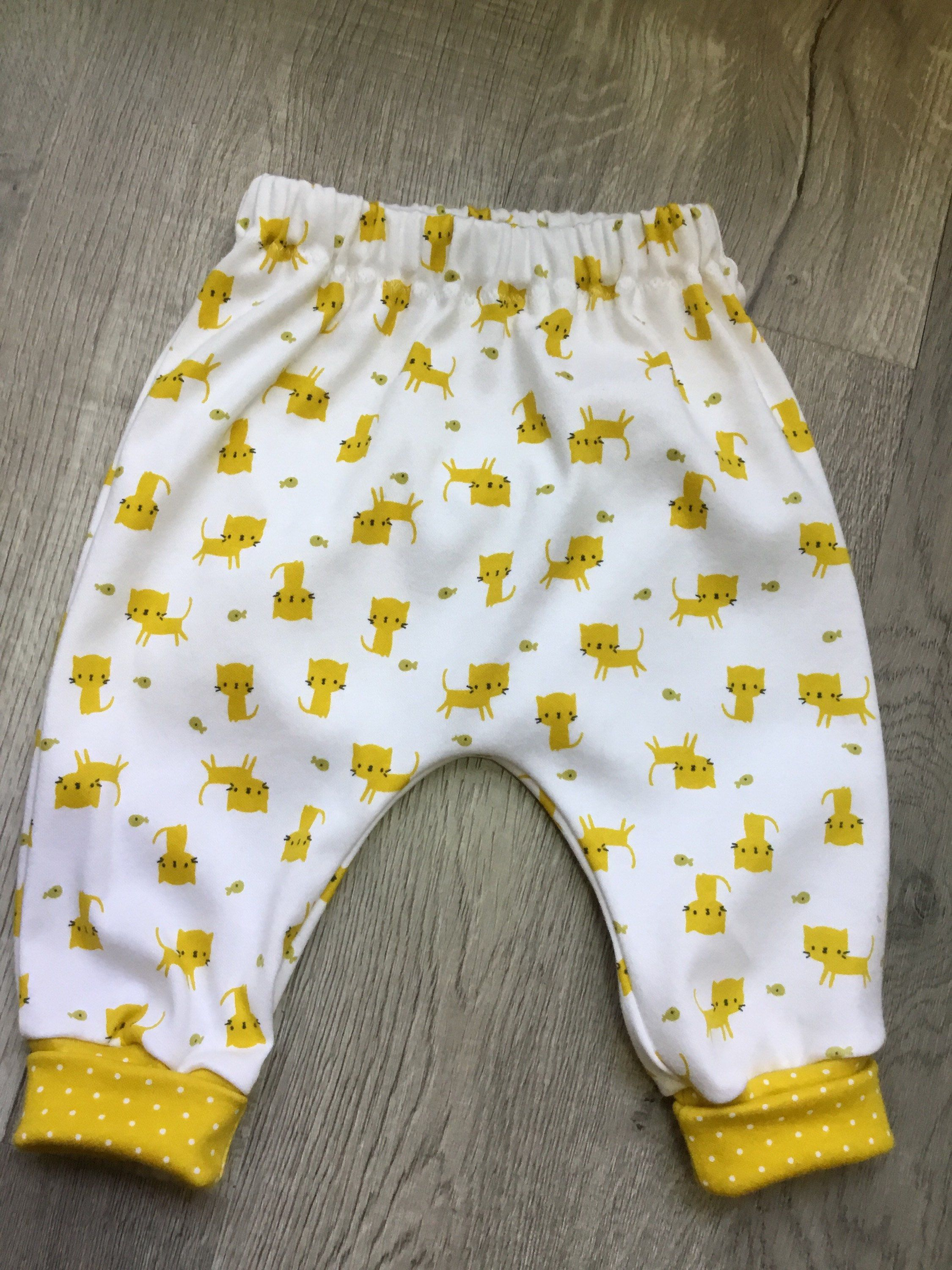 Organic Cotton Pants Baby Harem Pants Modern Kids Pants Uni