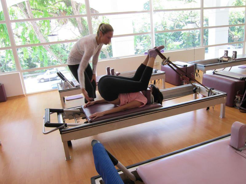 Pilates Short Spine on the Reformer pilates www