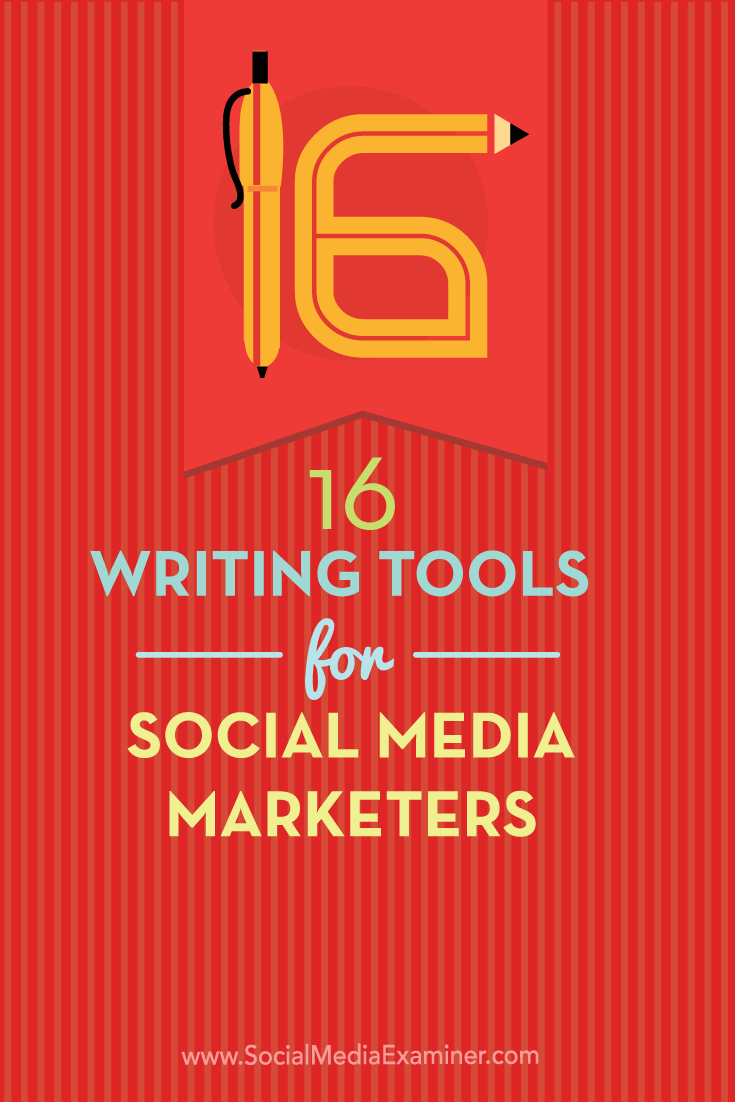 Do you create copy for social media posts?  Whether you work on your own or with a team, there are tools that make it more likely your social media posts will publish without errors and with correct word counts.  In this article you'll discover 16 writing tools for social media marketers. Via @smexaminer.