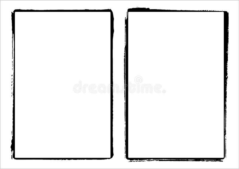 Two Vector Film Frame Edges Borders Set Of Two Vector Grunge Film Frame Edges Affiliate Edges Borders Set V Frame Template Stock Images Free Film