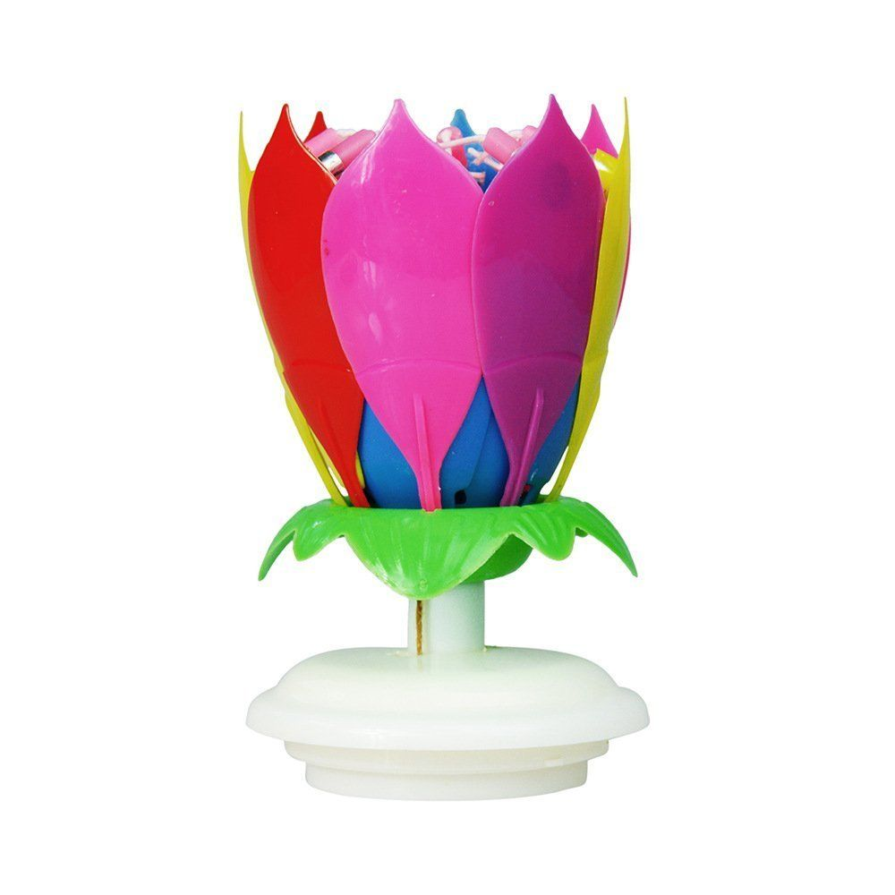 Birthday CandlePlays Musicwith 14 Little Candles And Spins Rainbow Click Image To Review More Details