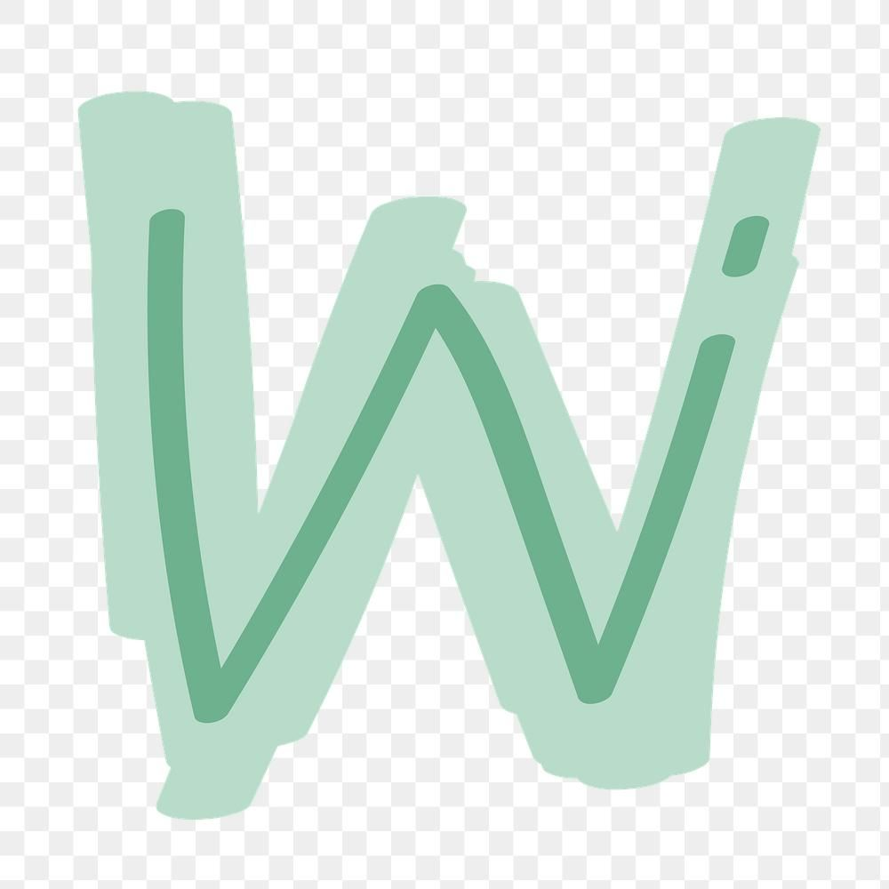 W Letter Png Doodle Font Typography Free Image By Rawpixel Com Aum Doodle Fonts Typography Fonts Typography