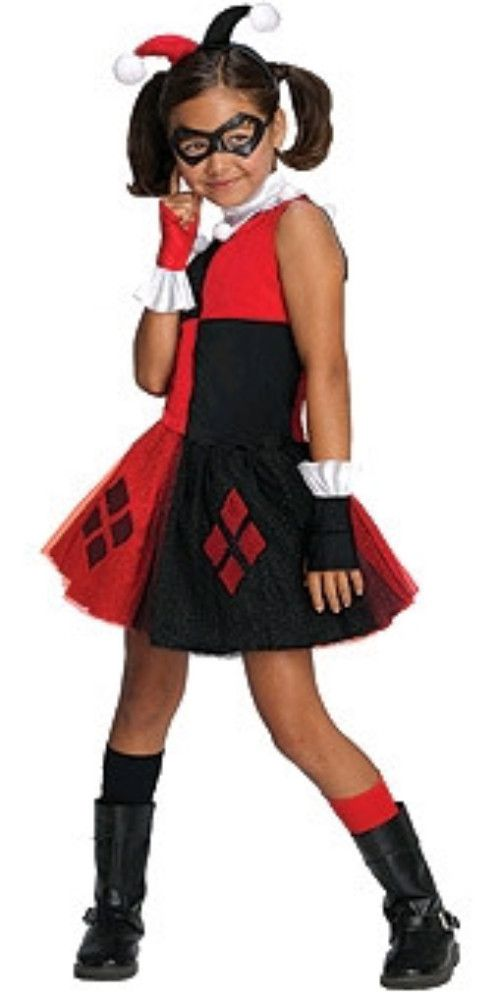 Licensed Child Girls Batman Harley Quinn Tutu Fancy Dress Halloween - halloween ideas girls