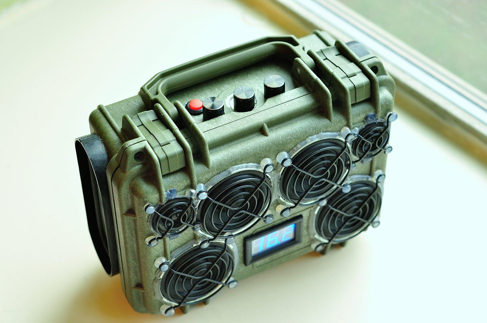 DIY Custom Pelican1120 in OD Bluetooth BoomBox updated w BBE