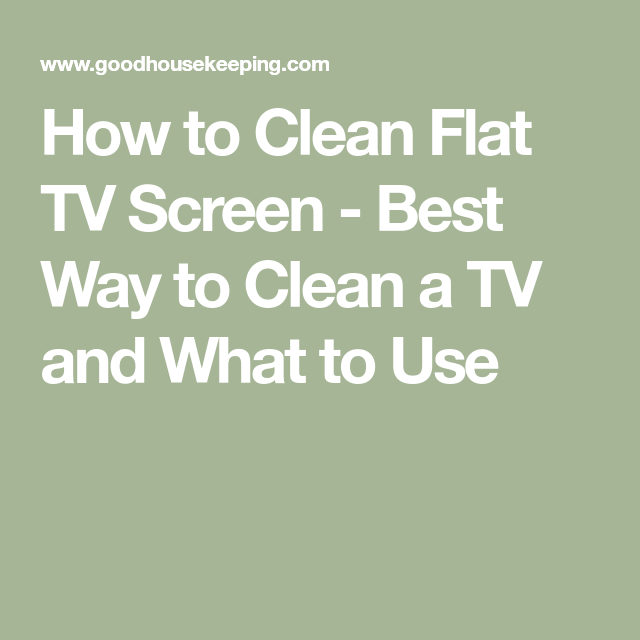 How To Clean A TV Screen, According To Cleaning Pros In