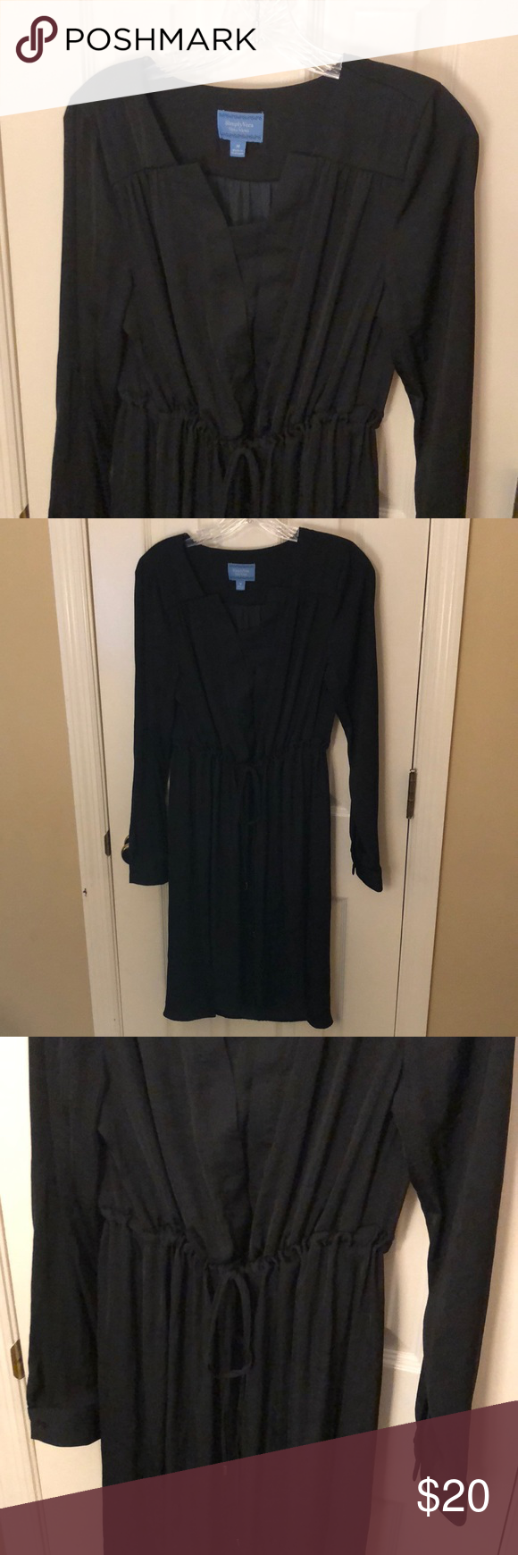 Womenus sz m vera wang black pc dress in my posh closet