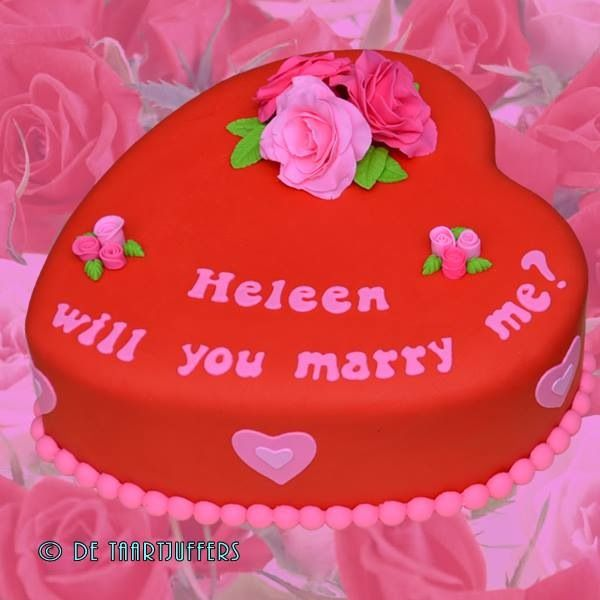 Will you marry me cake