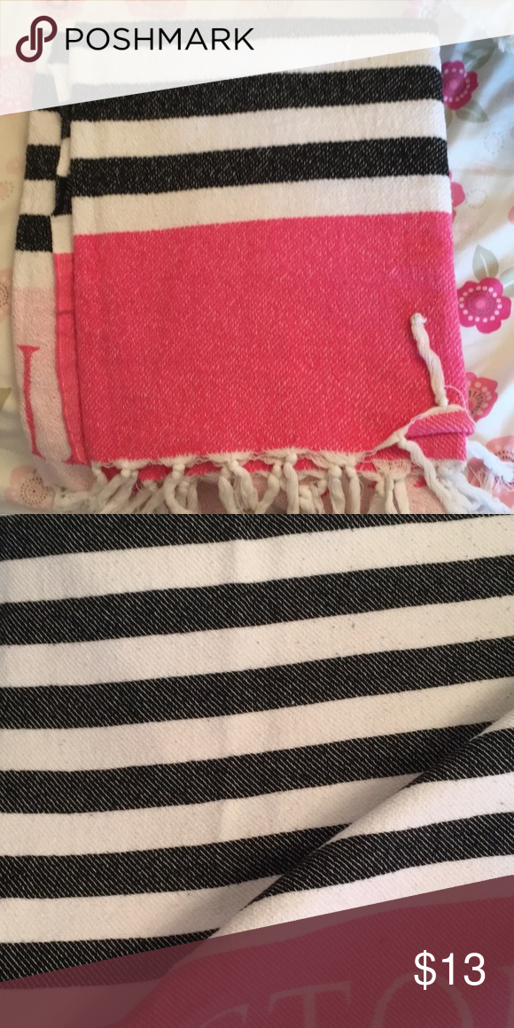 VICTORIA SECRET BLANKET Got it free with my purchase but used it once great condition comes from a smoke free home. All offers are accepted PINK Victoria's Secret Accessories