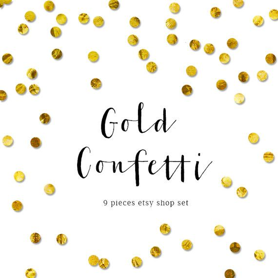 Gold confetti shop cover Chic Branding Design Customised Shop Banner - Etsy Banner Template