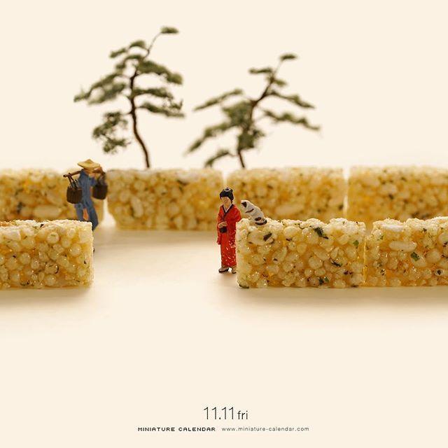 """. 11.11 fri """"Stone wall"""" . おこし持参でおこしください。 . #おこし #石垣 #MilletBrittle #StoneWall #このあとおいしくいただきました —————— #銀座で展覧会開催中です #詳しくはプロフィールのurlから"""
